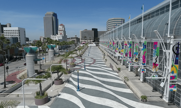 Downtown Long Beach – Move Along Walkway of Long Beach Convention Center #2