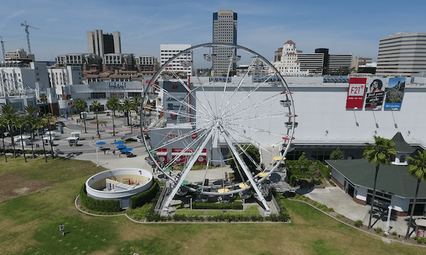 Downtown Long Beach – Pull Back from Ferris Wheel
