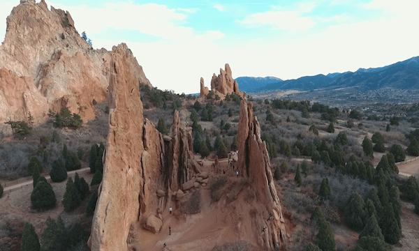 Garden of the Gods – Long Fly Through Rocks #2