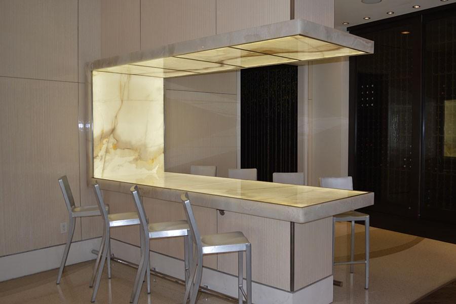 Backlit Onyx Table Renaissance Arlington GPI Design