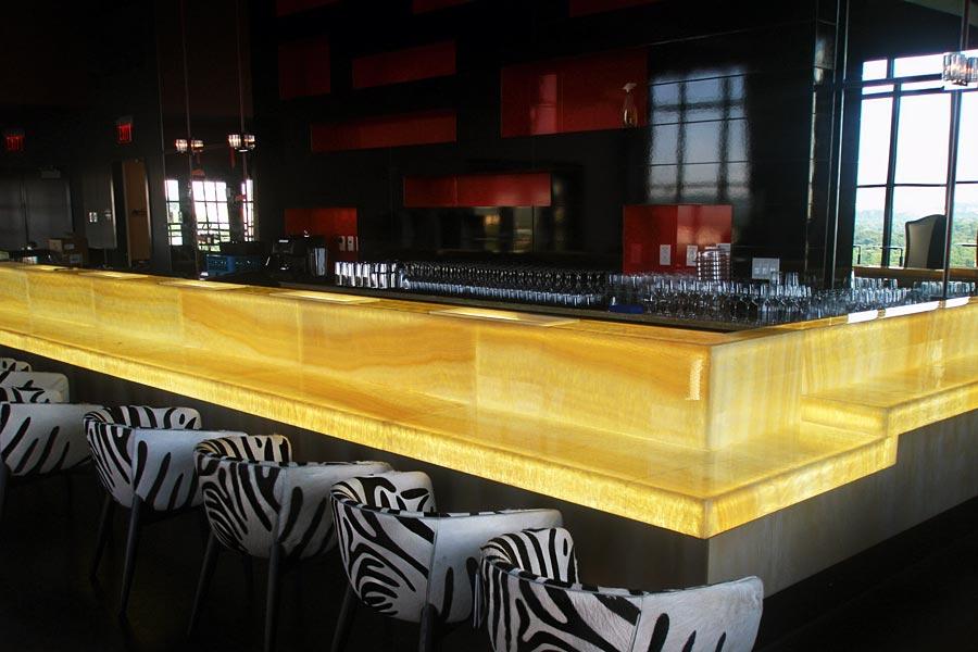 Backlit Honey Onyx Bar  Hotel Lighting Feature  W Hotel