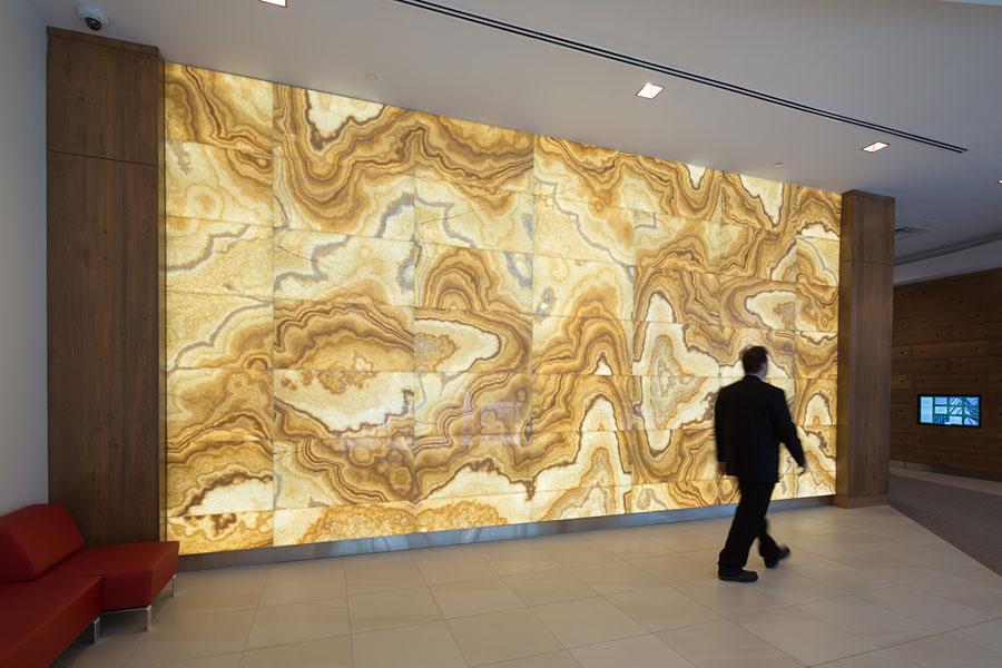 Backlit Honey Onyx Feature Wall Translucent Onyx Wall