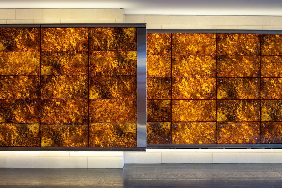 Backlit Wood Veneer Panels Feature Walls National