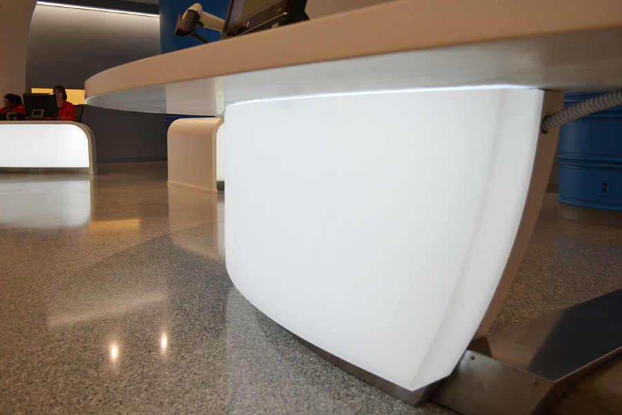 Backlit Curved 3Form Reception Desks  LED Backlighting