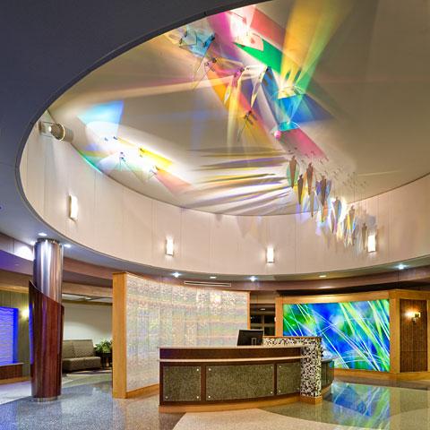 Illuminated Art Glass  Backlit Feature Walls  GPI Design  GPI Design