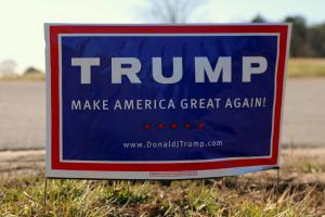 Make America Great Again sign