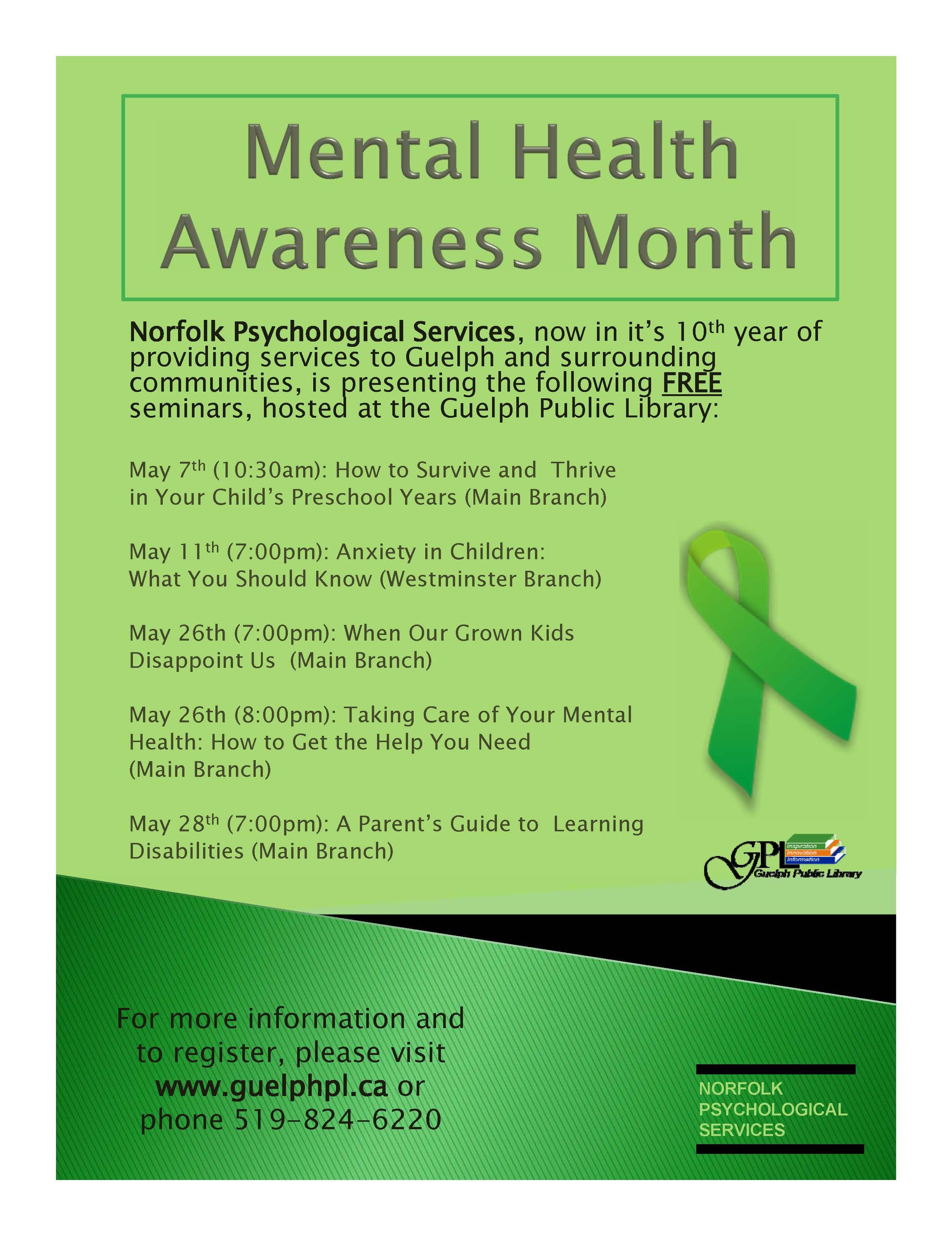 Mental Health Awareness Activities