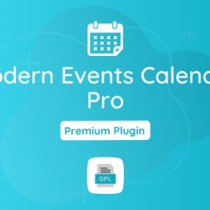 Modern Events Calendar Pro GPL Plugin Download