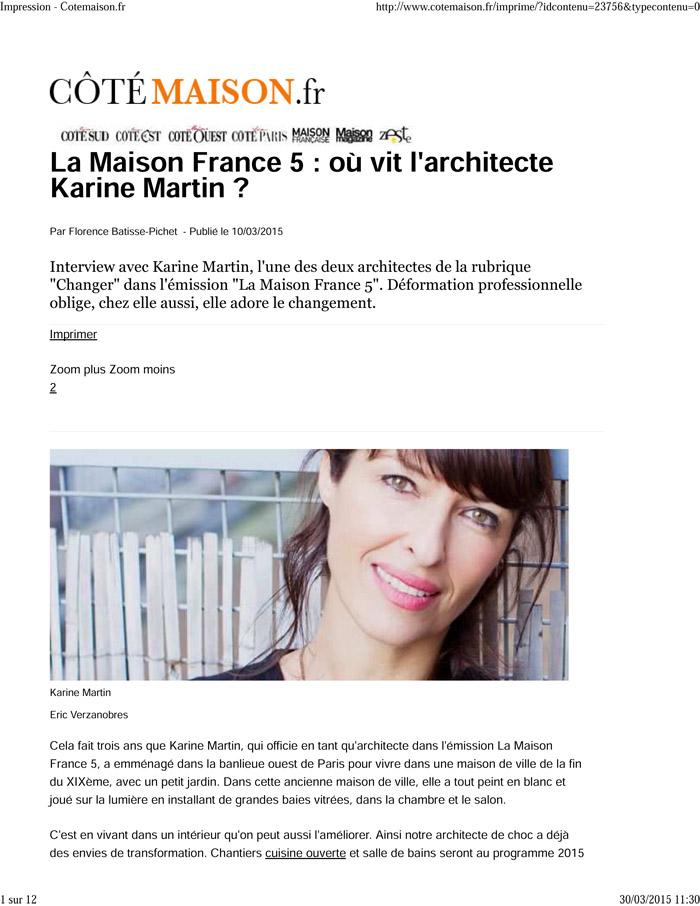 La Maison France 5 Karine Et Gaelle : maison, france, karine, gaelle, Interview, Côté, Maison, Karine, Martin, GplusK