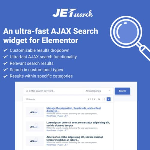 JetSearch For Elementor 2.1.8