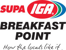 Supa IGA Breakfast Point sponsor ad