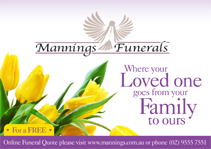 Mannings Funerals ad