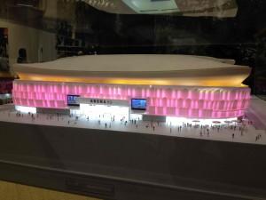 La maquette de l'Arena présentée le 2 décembre 2013
