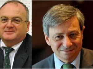Philippe Yvin (à gauche) remplacera Etienne Guyot à la présidence de la Société du Grand Paris
