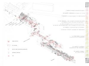 La gare, concept : de la rue aux quais - Jacques Ferrier Architecture