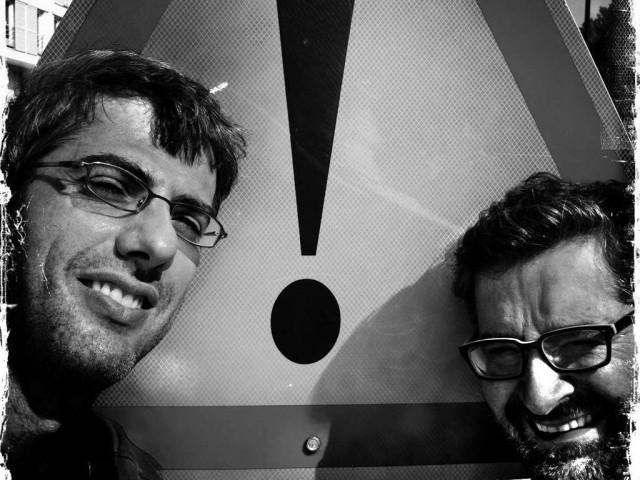Valerio Vincenzo (à gauche) et Guy-Pierre Chomette, au corus de leur voyage. Crédit : Valerio Viincenzo