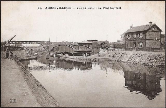 Aubervilliers pont tournant sur le canal