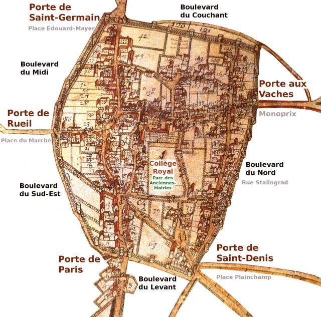 Nanterre_Bourg en 1688