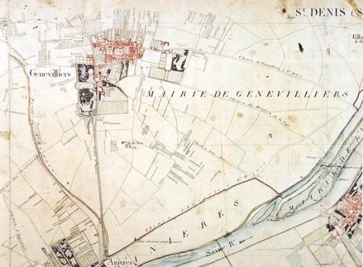 Plan du parc du Château de Gennevilliers