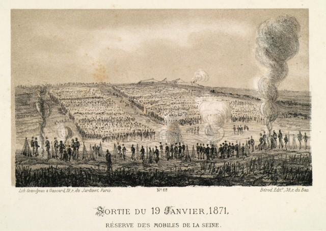 Bataille de Buzenval le 19 janvier 1871 document Archives de Hauts de Seine