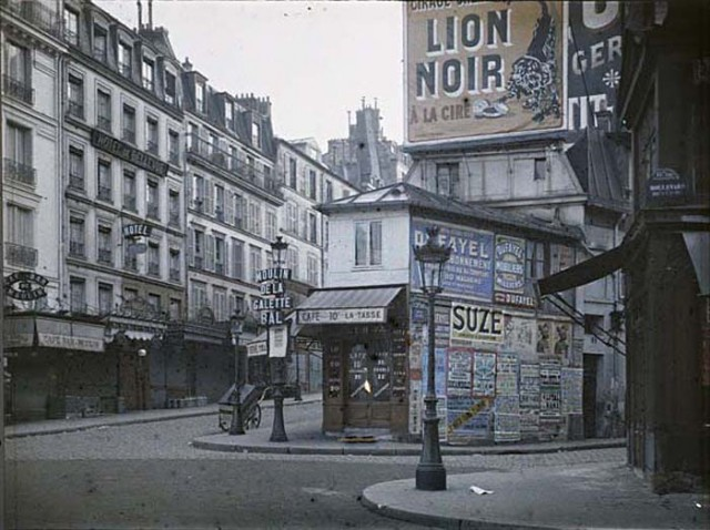 la rue Lepic en 1914 photo de Georges Chevalier