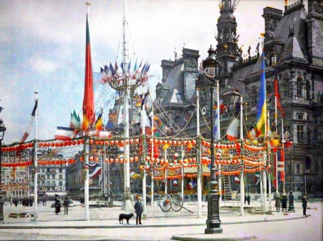 La réception des maréchaux de France à l'Hôtel de Ville pour les fêtes de la Victoire le 13 et 14 juillet 1919  Photo d'Auguste Leon