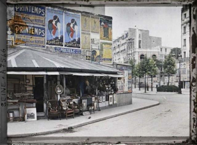Le boulevard Raspail et la rue du Montparnasse vus de la rue Notre-Dame-des-Champs par Stéphane Passet