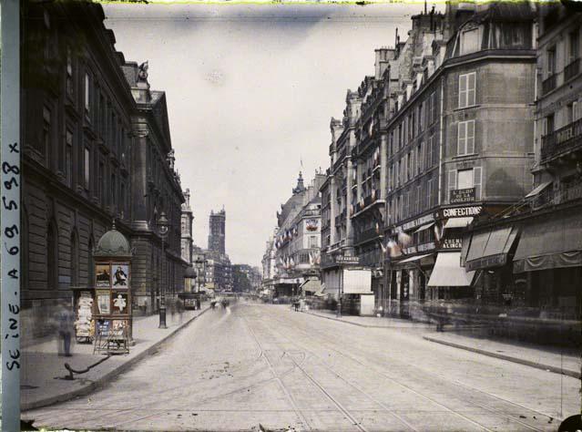 Rue de Rivoli en juillet 1914