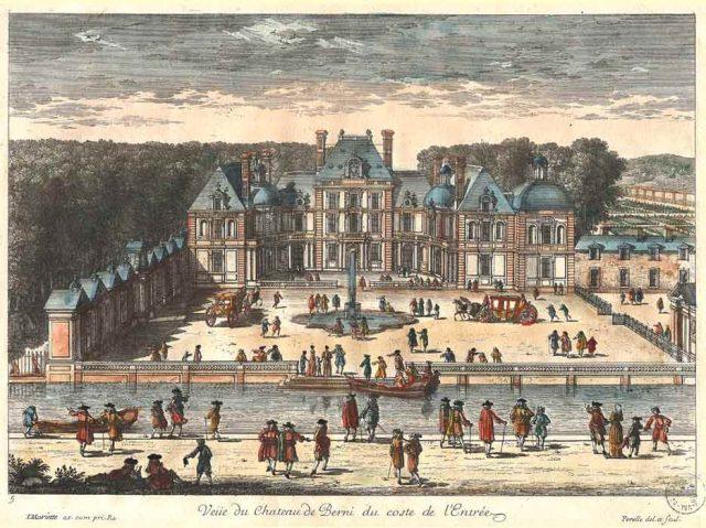 Vue du Château de Berny du côté de l'entrée (Début du XVIIIe siècle),  Jean Mariette (1660-1742)