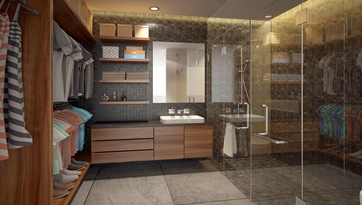 Vista baño principal - Riva