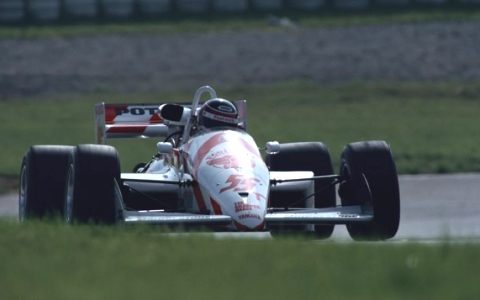A Yamaha engine powers Aguri Suzuki to the 1988 All-Japan F3000 championship title.