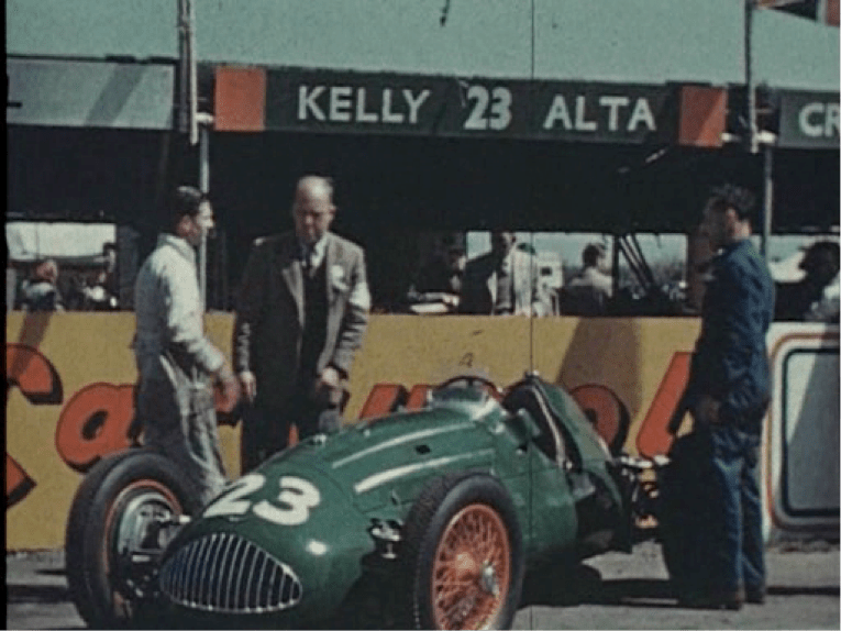 The Alta at Silverstone. Unfortunately, neither car nor driver achieved what they may have been capable of, partly due to the fact that the chassis was not jigged properly. A problem Kelly didn't discover until much later