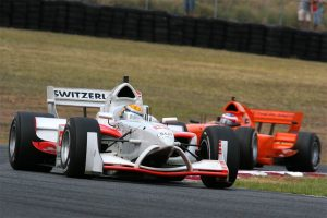 Buemi leads Holland's Jeroen Bleekemolen at Eastern Creek.