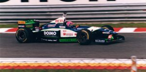 Estoril, '96. Lamy takes part in his final home race.