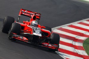 Timo Glock in action for Marussia Virgin Racing in 2011.