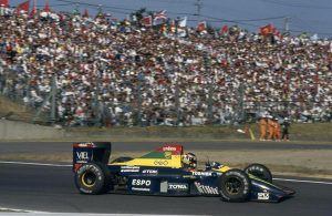 Aguri Suzuki came 3rd at Suzuka in the Larrousse-run Lola LC90.