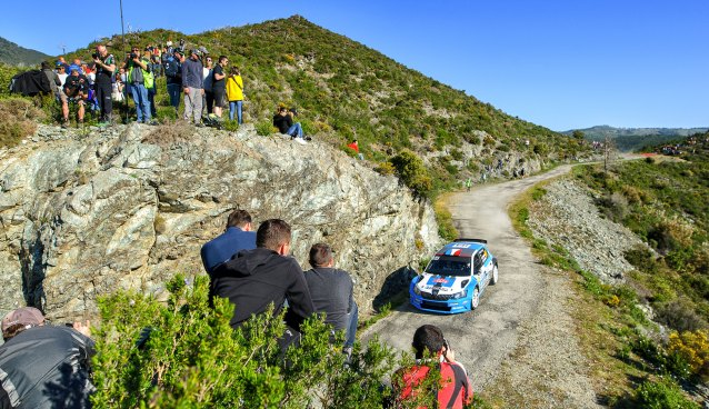 Stéphane Sarrazin on his way to ninth place in the Tour de Corse.