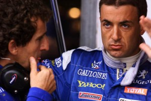 Alain Prost and Jean Alesi discuss the latest problems with the AP03.