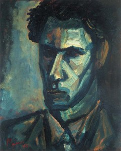 One of Leslie's earliest self portraits, dated to 1946.