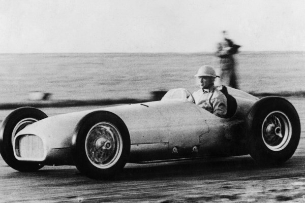 Richardson clocking in the endless miles he would go through testing the BRM Type 15 (Marcus Clayton Collection)