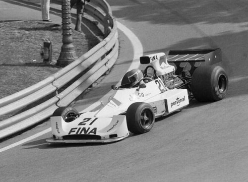 Brise dragged the Williams FW04 to a fine seventh at Montjuïc Park.