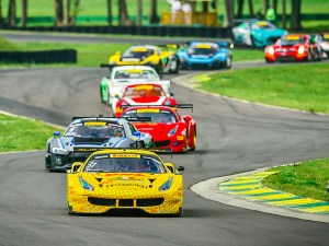 Andrea Montermini leads the Pirelli World Challenge field at Virginia (Pirelli World Challenge)