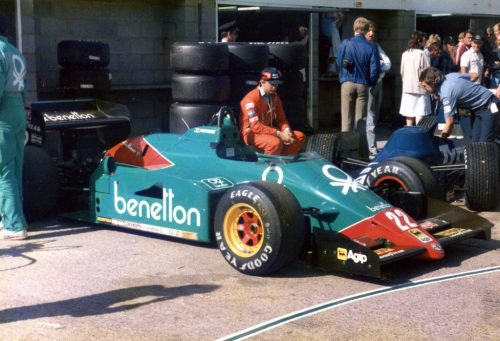 The 185T being prepared for its final outing, Silverstone 1985