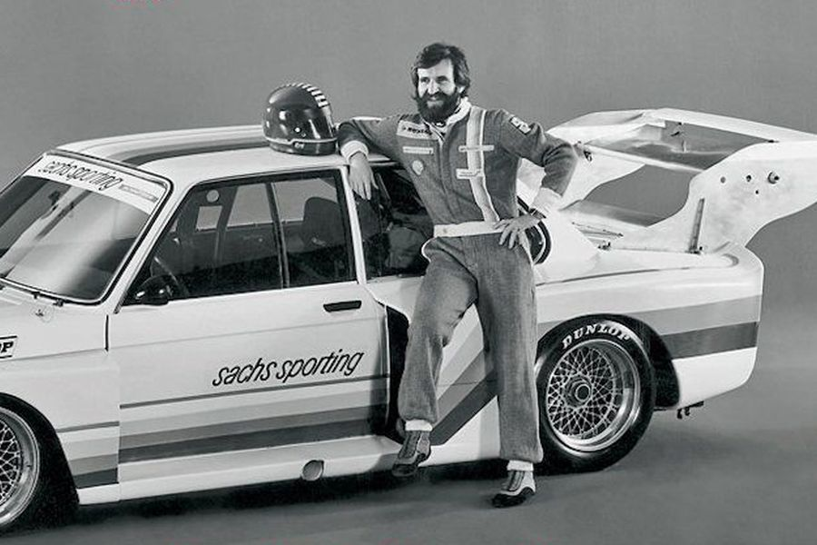 Harald proudly poses with his 1978 DRM ride, a Sachs-sponsored BMW