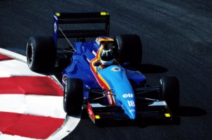 Fabrizio Barbazza in the newly-blue-liveried JH25B at Magny-Cours