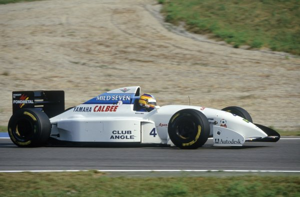 Ukyo Katayama starred for Tyrrell in 1994, while Mark Blundell (pictured) scored the team's last podium finish at Spain that year. (Photo: @1990sF1 on Twitter)