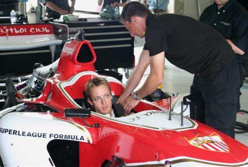 Bourdais in his Superleague Formula car