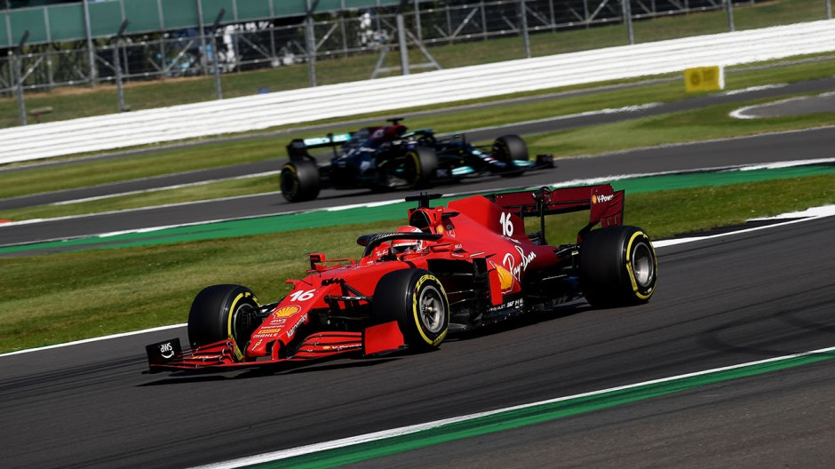 Leclerc put a flawless drive to second place in the British Grand Prix. Photo: Foto Colombo Images / Scuderia Ferrari Press Office