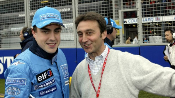 Fernando Alonso and Adrian Campos together in 2003. Alonso, one of Campos' first protégés, owed his F1 chance, and all in all his career, to Adrián. He repaid that debt in full. Photo: RV Racing Press