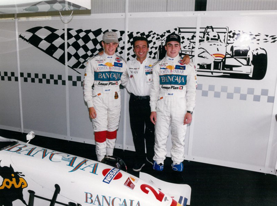 The likely lads: after Marc Gené jumped into F1 stardom with Minardi, Campos continued his search for young Spanish talent. He didn't have to wait long. Photo: Campos Racing.